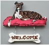 Handpainted Greyhound Welcome Sign