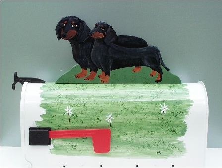 Two Dachshund Mailbox