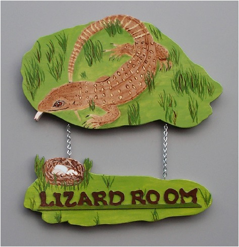 Handpainted Savannah Monitor Sign