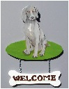 Handpainted Weimeraner Welcome sign